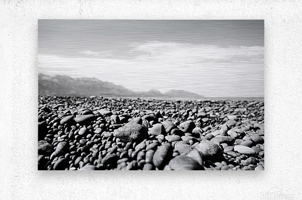 Pebbles on beach  Metal print