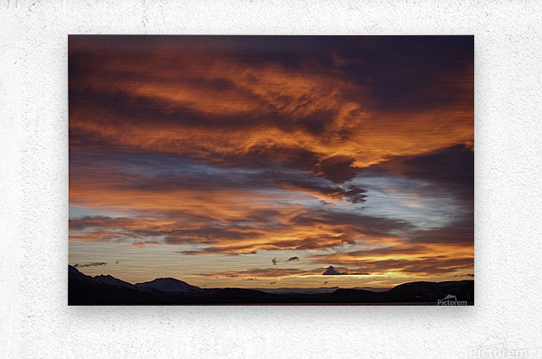 Icelandic Sunrise  Metal print