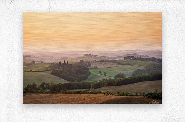 Tuscany Sunset  Metal print