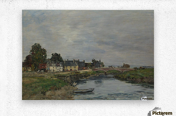 Trouville, View of Port's Landing Stage  Metal print