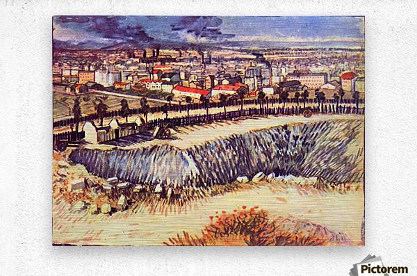 Factory by Van Gogh  Metal print