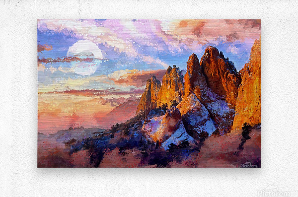 Colorado Mountains - Digital Painting III  Metal print
