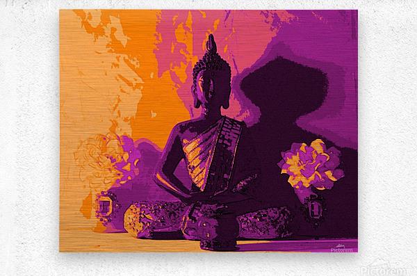 Buddha Altar -- Sunset Colors  Metal print