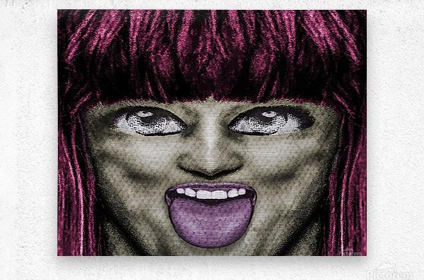 Daring Pop Teen Portrait  Metal print