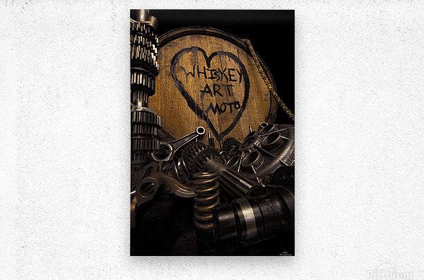 Whiskey Art Moto  Metal print