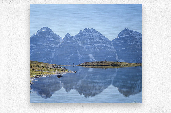 Mountain diaries  Metal print