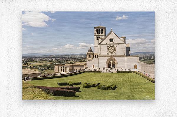 Assisi church  Metal print