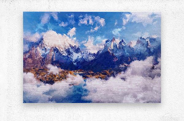 Mountains Artwork II  Metal print