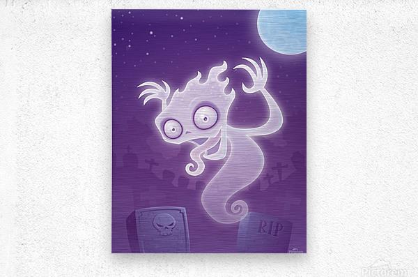 Ghost in the Graveyard  Metal print