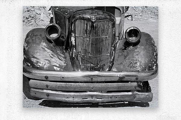 Rusty Old Truck B&W  Metal print