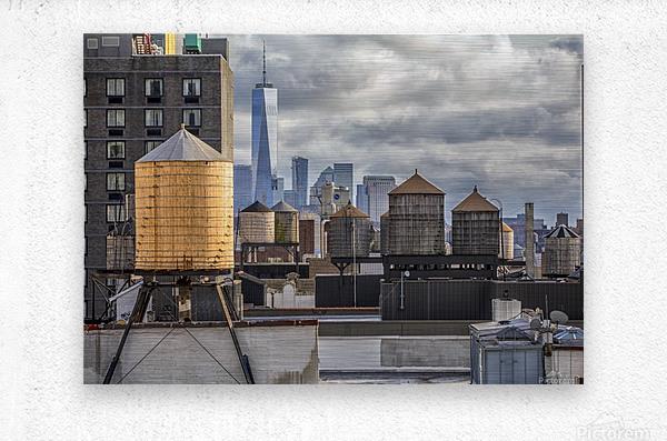 Water Towers   Metal print