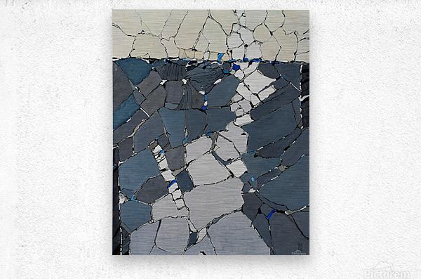 Open fields - Contemporary Art  Impression metal