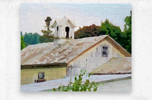 Cummington Barn Roofs  Metal print