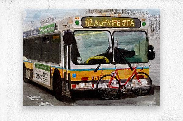MBTA 62 Bus  Metal print