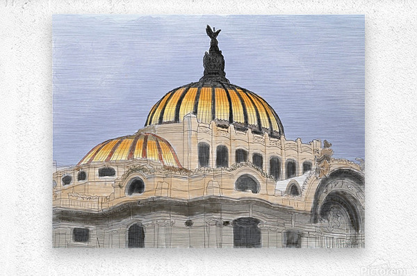 Mexico City Palacio Bellas Artes  Metal print
