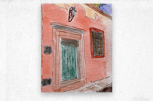 Mexico San Miguel de Allende Door 1  Metal print