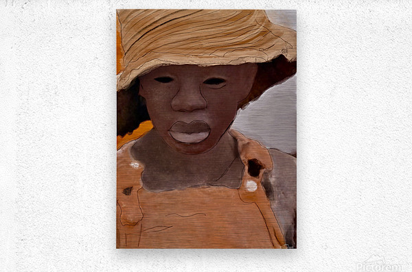 Whitney Plantation Slave Girl 1  Metal print