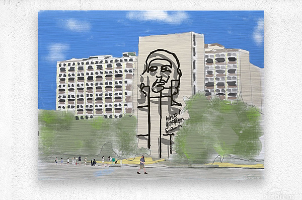 Cuba Revolution Square  Metal print