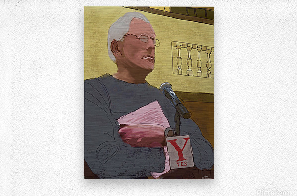 Town Meeting Joel  Metal print