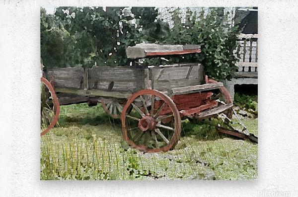 Cummington Wagon  Metal print