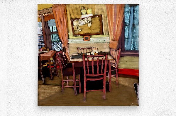The Hedges Dining Room  Metal print