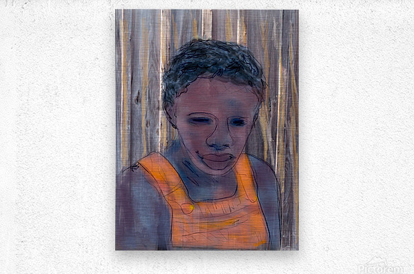 Whitney Plantation Slave Girl 2  Metal print