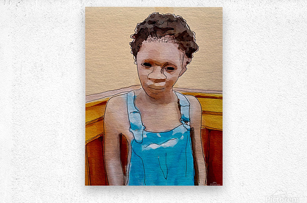 Whitney Plantation Slave Boy 1  Metal print
