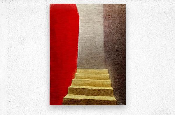 Mexico Oaxaca Stairway  Metal print