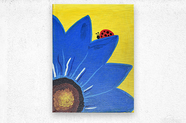 Blue Lady Bug. Maggie Z  Metal print