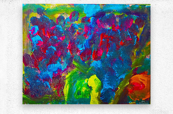 Abstract Flowers. Marielle A  Metal print