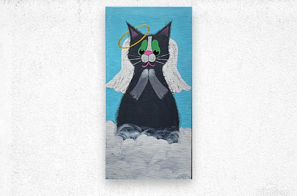 Angel Cat. Heather S.  Metal print