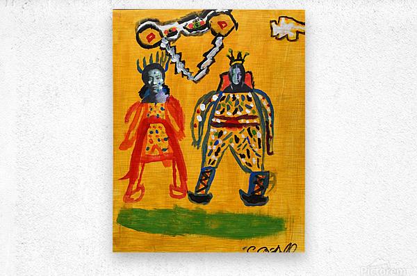 Klimt inspiration. Clyde O.  Metal print
