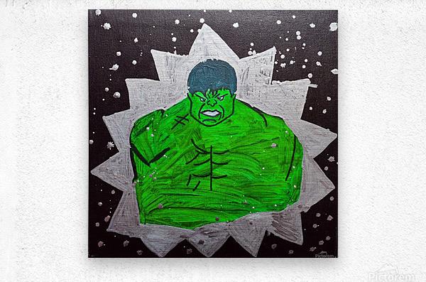 Hulk. Brandon C  Metal print