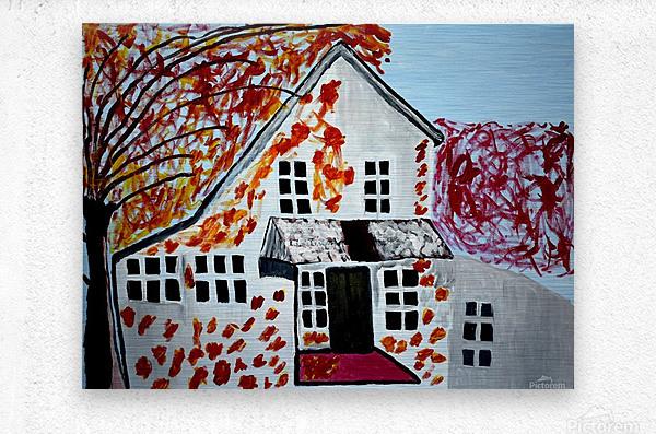 Autumn Day. Cindy A  Metal print