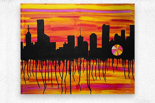 Melting City. Maggie Z  Metal print