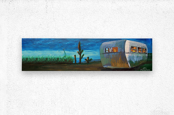Airstream by Nancy D.  Metal print