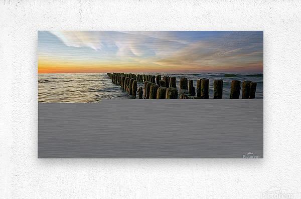 Lace sunset  Metal print