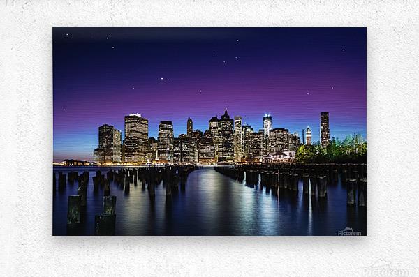 New York Sky Line  Impression metal