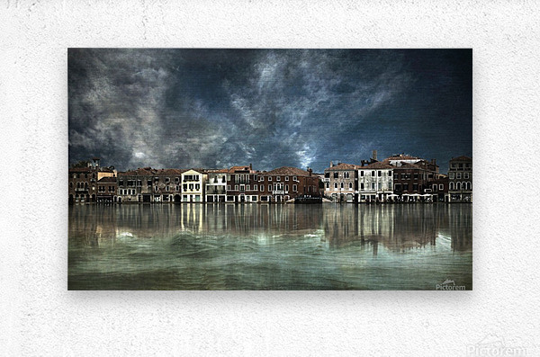 Reflections in Venice  Metal print