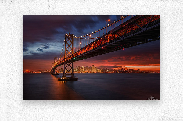 Fire over San Francisco  Metal print