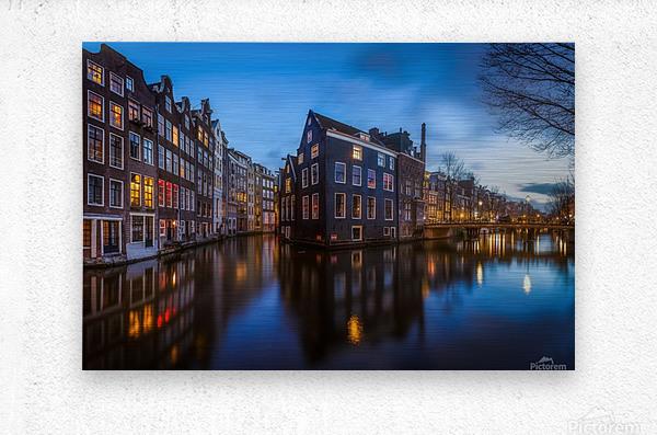 Blue Amsterdam  Impression metal