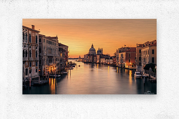 Dawn on Venice  Impression metal