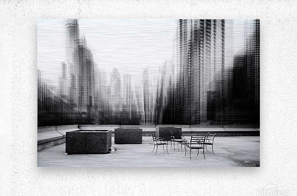 the terrace  Metal print