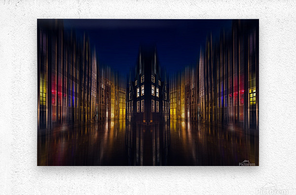 our house in the middle of the street  Metal print