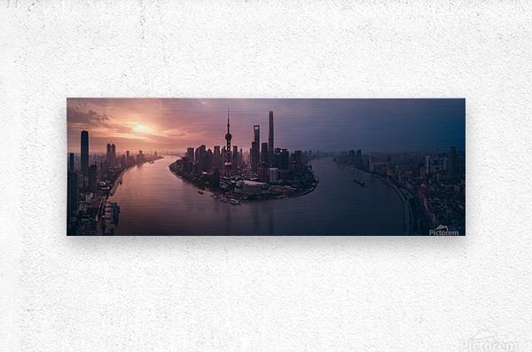 Flying Shanghai  Metal print