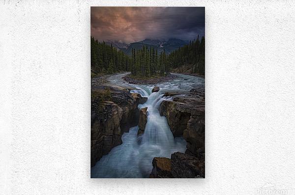 Sunwapta Falls  Metal print
