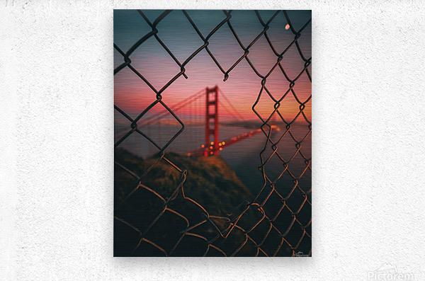 Golden Gate Caged  Impression metal