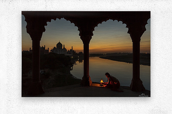 Illuminating the Taj  Metal print