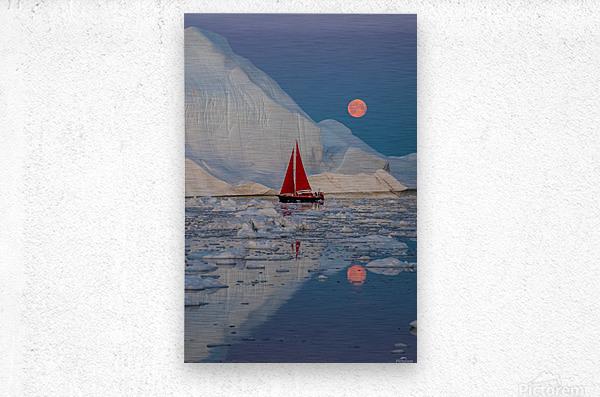 Greenland night  Metal print