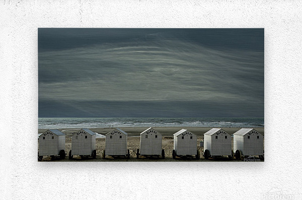 A quiet spot by the sea, just to 'be' ...  Metal print